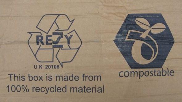 Recycled cardboard.