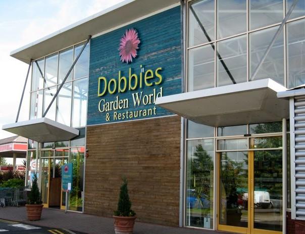 Dobbies Garden Centre entrance.