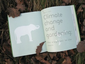 Opening pages of the chapter on climate change in The Organic Garden.