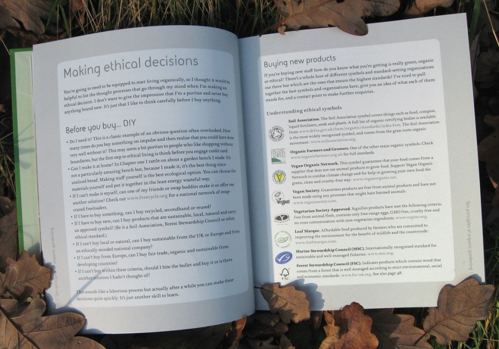 The chapter in The Organic Garden on making ethical gardening decisions.