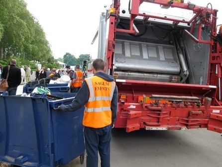Waste collection at the 2008 RHS Chelsea Flower Show.