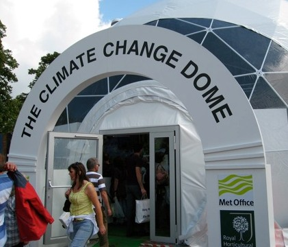 The 'climate change dome' at the 2008 RHS Hampton Court Palace Flower Show.