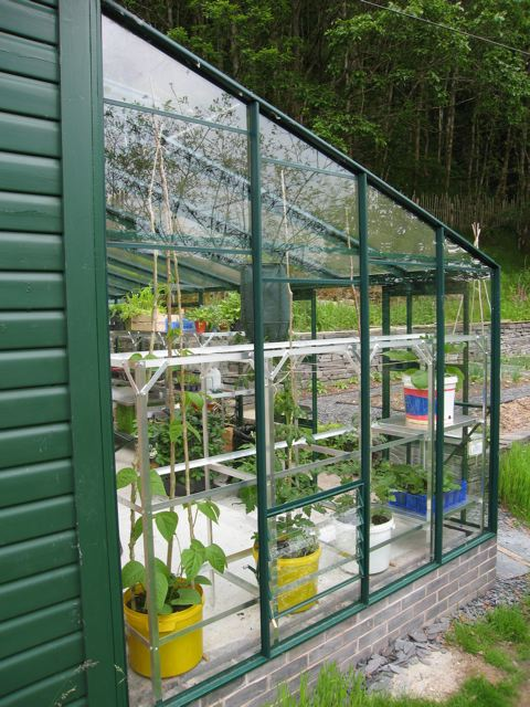 John Walker, earth-friendly gardening and environment writer and author's greenhouse, powered by zero carbon and free, renewable modern sunshine.