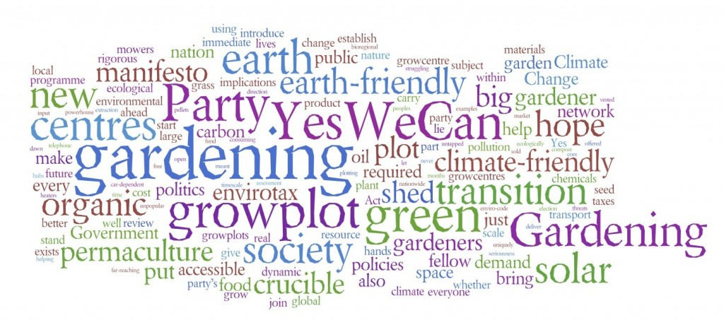 John Walker Gardening Party manifesto.
