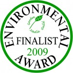 Garden Media Guild Environmental Award 2009 finalists' seal.