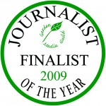 Garden Media Guild Journalist of the Year Award 2009 finalists' seal.