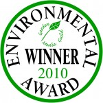 Garden Media Guild Environmental Award 2010 winners' seal.
