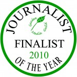 Garden Media Guild Journalist of the Year Award 2010 finalists' seal.