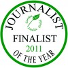 Garden Media Guild Journalist of the Year Award 2011 finalists' seal.