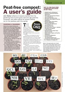 Peat-free compost: a user's guide, first published in Kitchen Garden magazine, May 2012.