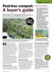 Peat-free compost: a buyer's guide, first published in Kitchen Garden magazine, June 2012.
