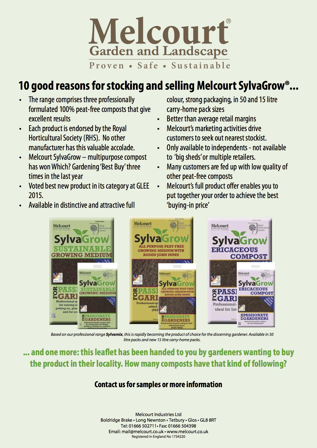 how gardeners and a top compost maker are teaming up to bring click the image above to go to sylvagrow s website where you can the flyer